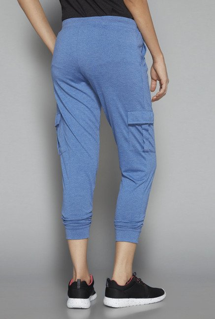 Westsport by Westside Blue Solid Trackpant