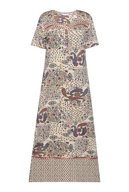 Intima by Westside Beige Paisley Print Nightdress