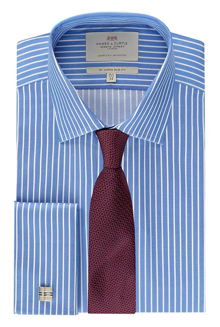Hawes & Curties Blue St James Striped Shirt