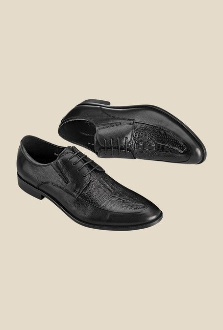 Tresmode Black Derby Shoes