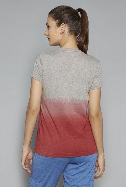 Westsport by Westside Grey Printed T Shirt