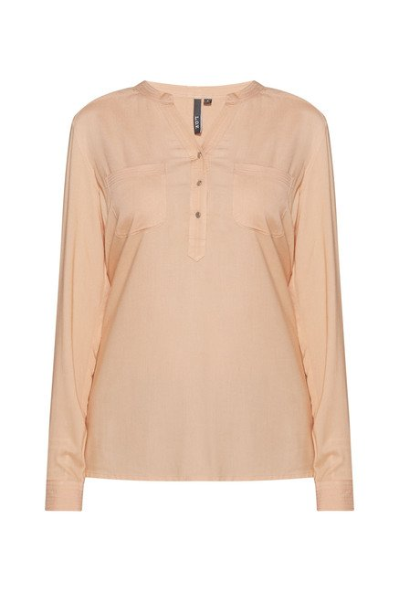 LOV by Westside Peach Phoebe Blouse
