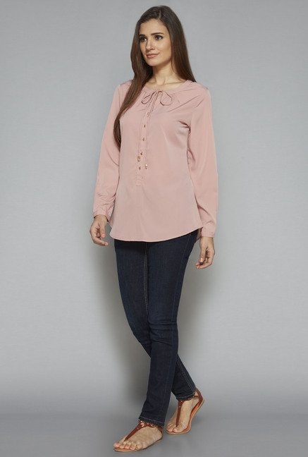 LOV by Westside Pink Cleo Blouse