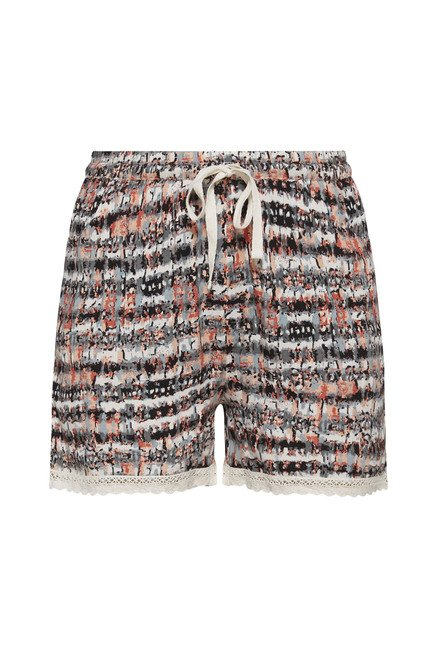 Intima by Westside Beige Abstract Print Shorts