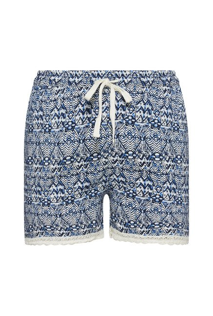 Intima by Westside Blue Printed Shorts