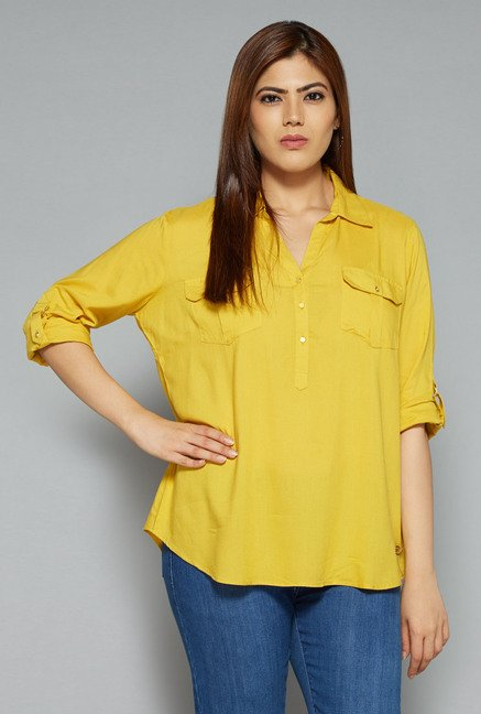 Gia by Westside Mustard Nora Blouse