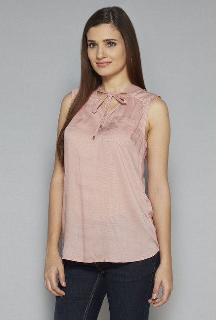 LOV by Westside Pink Tiara Blouse