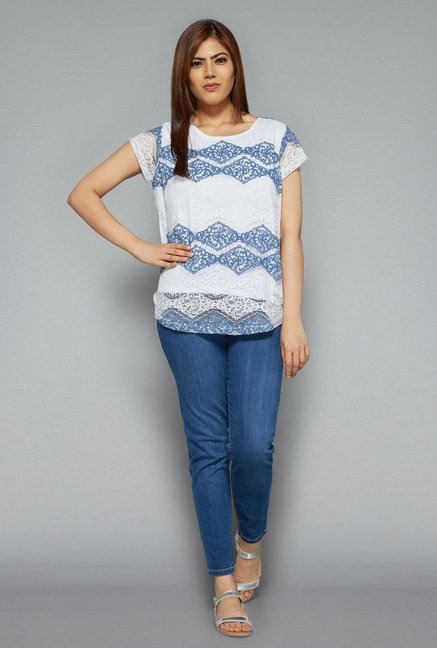 Gia by Westside White Gail Top