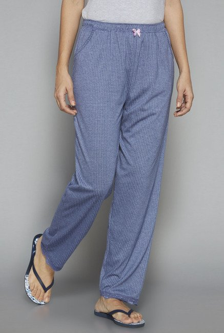 Intima by Westside Blue Printed Pyjama