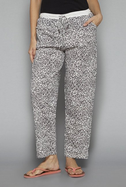 Intima by Westside Off White Printed Pyjama