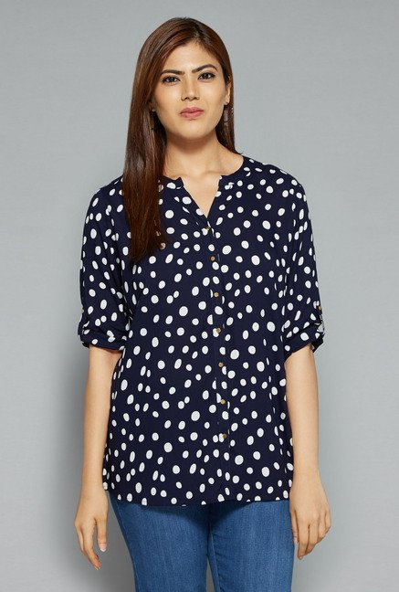 Gia by Westside Navy Pixie Blouse