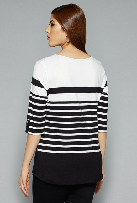 Gia by Westside Black & White Carly Top