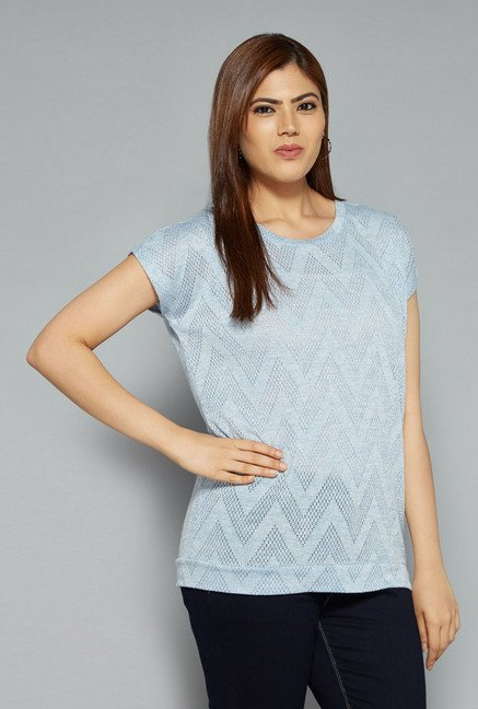 Gia by Westside Blue Dash Top