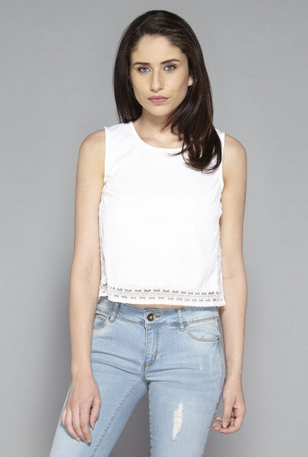 Nuon by Westside White Chelsea Blouse