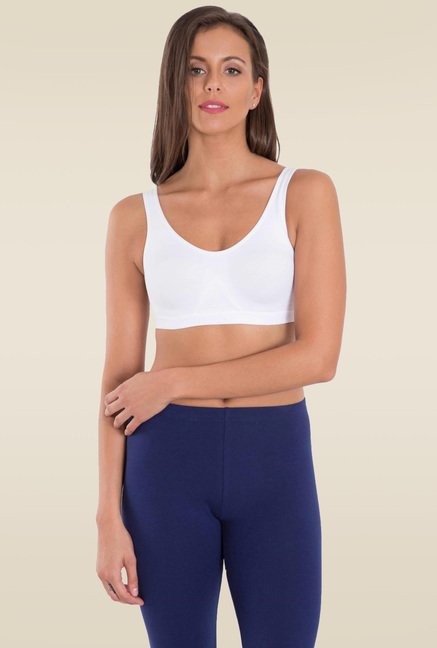3d1de41164 Buy Jockey White Slip On Active Bra - 1376 for Women Online   Tata CLiQ