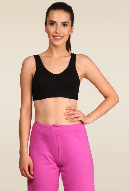 573875e2fc Buy Jockey Black Slip On Active Bra - 1376 for Women Online   Tata CLiQ