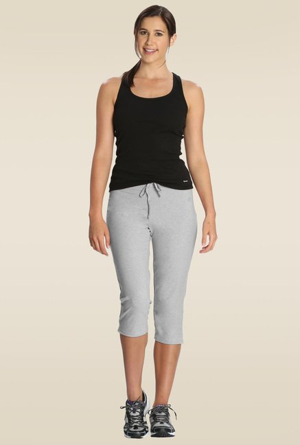 Jockey Light Grey Melange Capri Pants - 1300