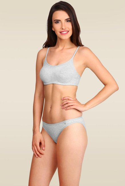 super cheap exquisite design attractive colour Buy Jockey Light Grey Melange Soft Cup Bra - SS12 for Women Online @ Tata  CLiQ