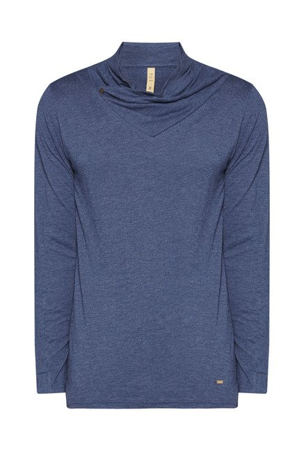 ETA by Westside Navy Solid Sweatshirt