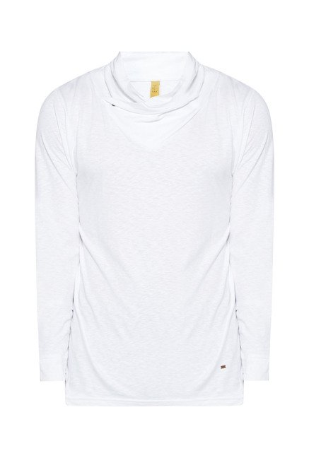 ETA by Westside White Solid Sweatshirt