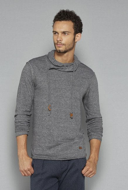 ETA by Westside Grey Textured Sweatshirt