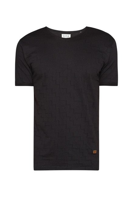 ETA by Westside Black Self Print T Shirt