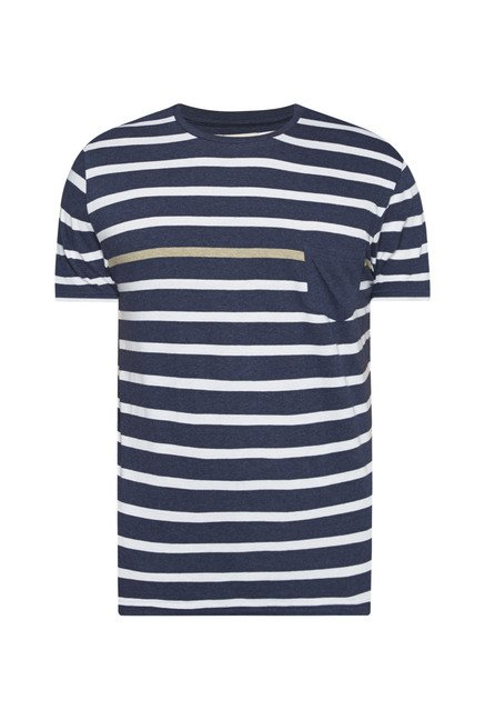 Westsport by Westside Navy Striped T Shirt