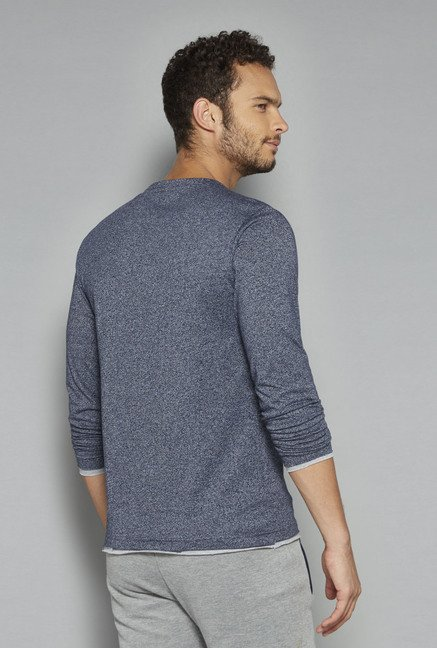 ETA by Westside Indigo Textured T Shirt