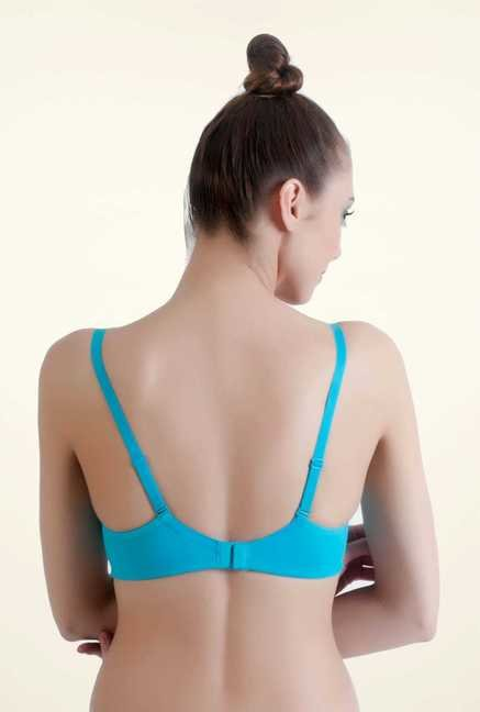 Bwitch Turquoise Cotton Seamless Bra