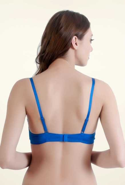 Bwitch Blue Polyamide Under-wired Seamless Bra