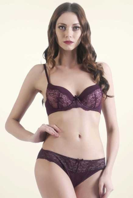 Bwitch Purple Seamless Bra