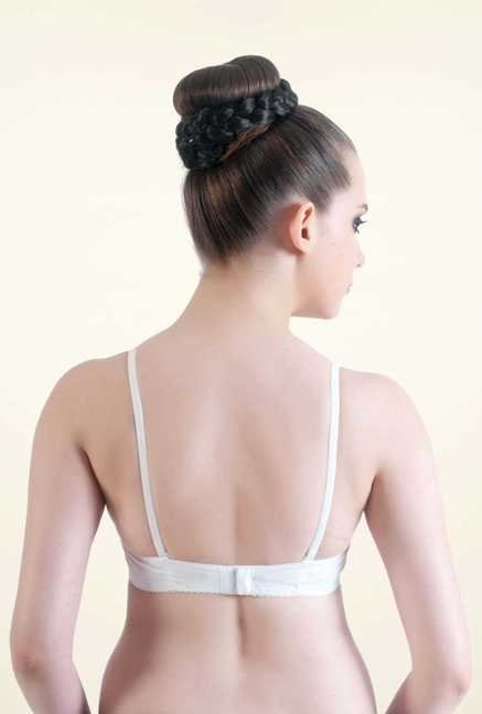 Bwitch White Cotton Seamless Bra
