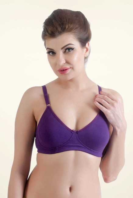 Bwitch Purple Cotton Seamless Bra
