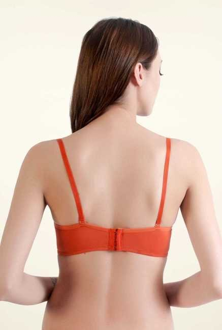 Bwitch Orange Polyester Seamless Bra