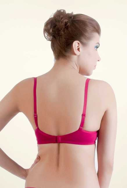 Bwitch Pink Cotton Seamless Bra