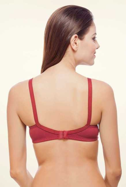 Bwitch Maroon Cotton Seamless Bra