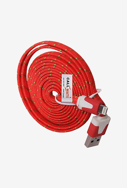 Callmate High Speed Cable for iPhone 5/5S/5C/6/6 Plus (Red)