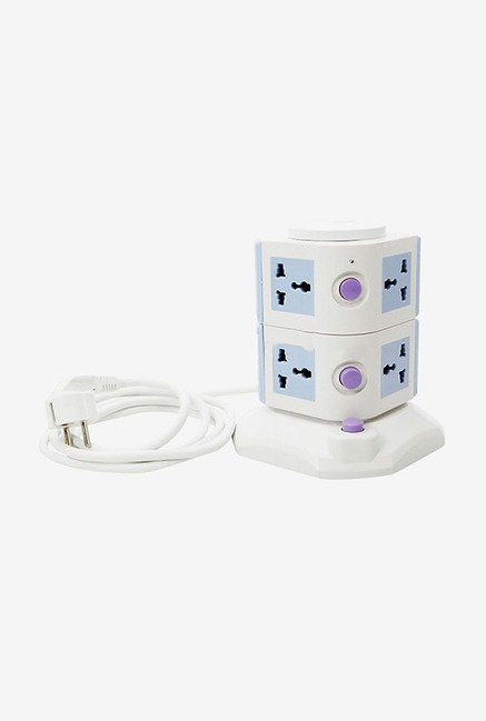 Callmate Essential 7 Wall Mount Surge Protector (Blue/White)