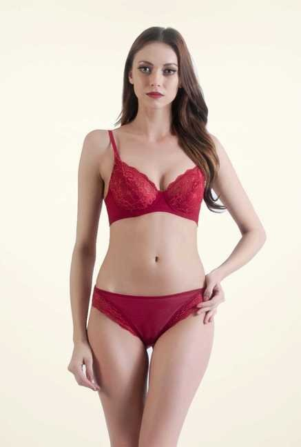 Bwitch Dark Red Seamless Bra