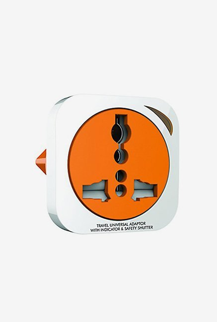 GM 3009 2 Pin Universal Travel Adaptor (White & Orange)