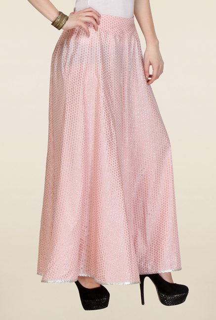 W Pink Printed Culottes