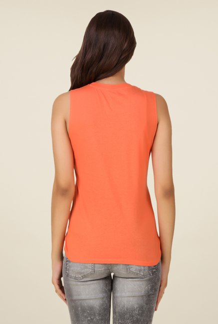 Spunk Orange Good Vibes Top