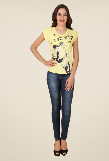 Spunk Yellow Soft Pop Tee