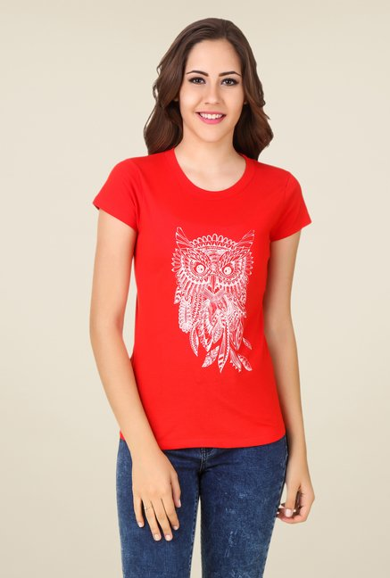 Spunk Red Make Memories Tee