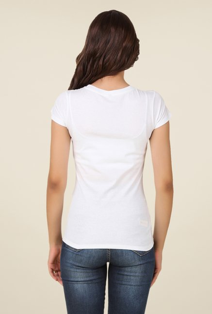 Spunk White Pop Out Tee