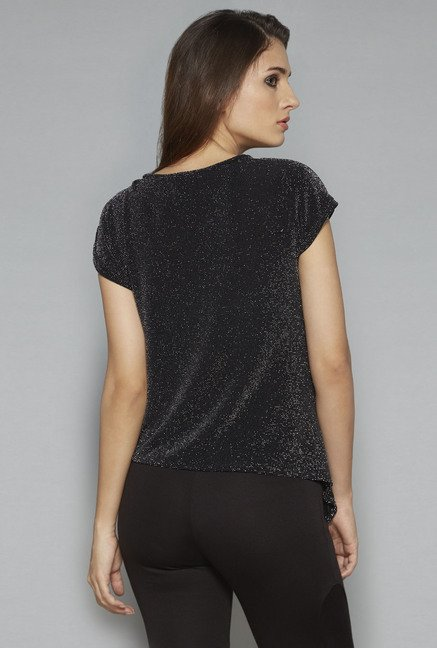 Nuon by Westside Black Embellished Top