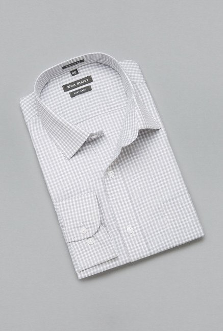 Weststreet by Westside Grey Checks Shirt