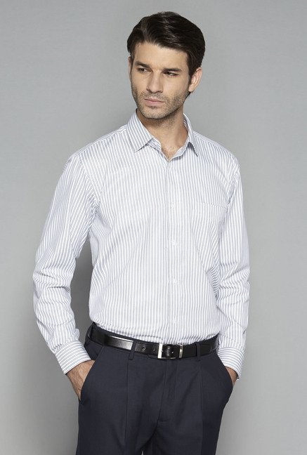 Weststreet by Westside Grey Striped Shirt