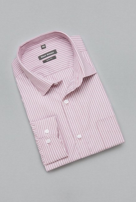 Weststreet by Westside Red Striped Shirt