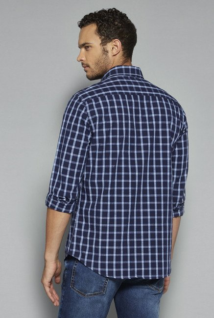 Westsport by Westside Navy Checks Shirt